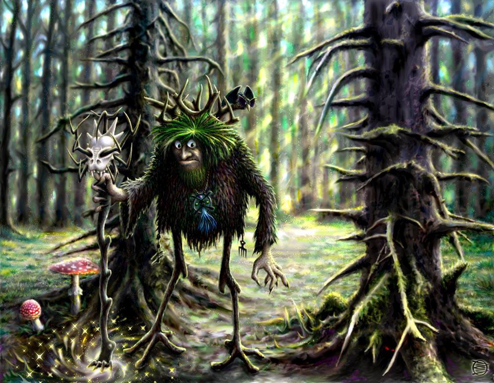 Худую бабку в лесу фото 580-977