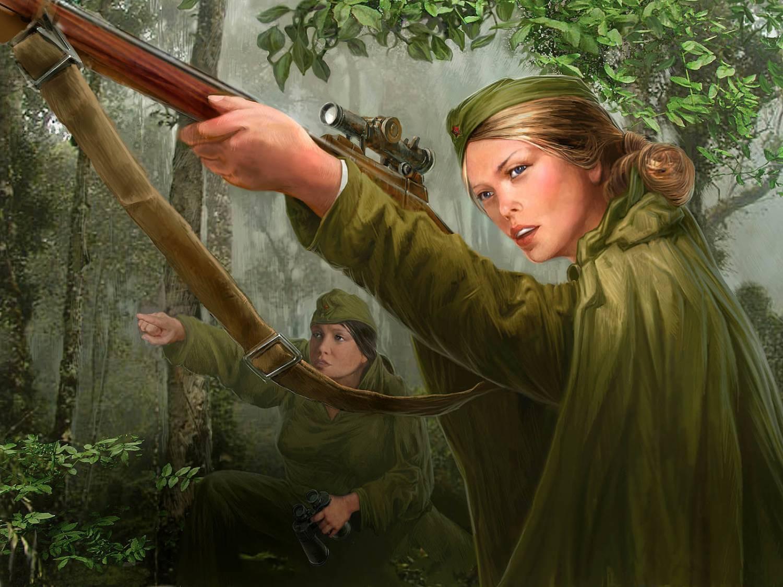 Девушки снайперы в великую отечественную