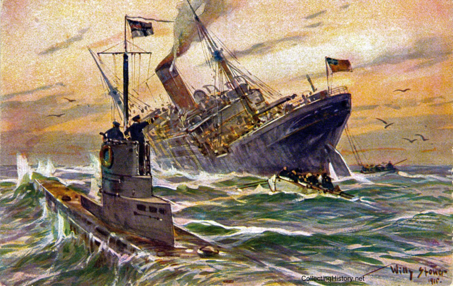 submarine warfare in the first world war Germany was the first country to employ submarines in war as substitutes for surface commerce raiders at the outset of world war i u-boat warfare against.